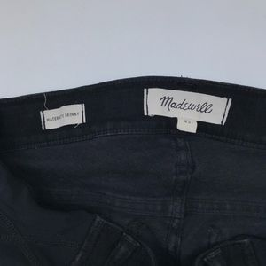 Madewell Jeans - Madewell Maternity Skinny Jeans in Black Frost 25